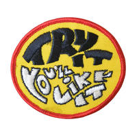 """【70's dead stock / u.s. made】""""try it you'll like it"""" patch  -yellow- (ym-049)"""