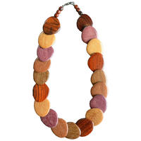 germany handmade wood necklace (gan009b-m)
