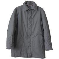 "【80's/dead Stock】 ""Veb Wattana"" germany work quilting jacket -gray/52- (om-9)"
