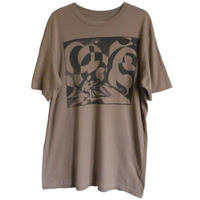 """【used】""""volcom"""" featured artist series psychedelic t-shirt -brown / L-  (om-212-37)"""