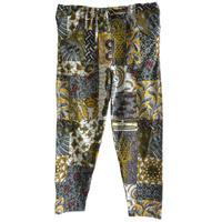 """【80's vintage / africa made】""""african batik"""" remake easy pants -black base / free size- (om-212-23)"""
