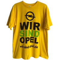 """【germany used】""""wir sind OPEL"""" official T-shirts  -M / yellow-  (om-216-26)"""