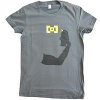 "【used / berghain】official t-shirts ""spreydose"" -M /asphalt-"