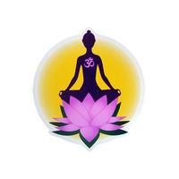 "【 starshine arts 】""lotus meditation"" sticker (ss-s3)"