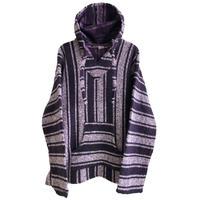 "【vintage / SANDY】""baja""2tone mexican parka -purple × white mix / XL- (jt218-8)"