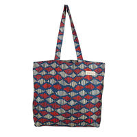 tencel shopper/sound waves/blue