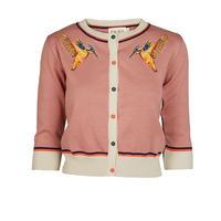 classic cardigan/kingfisher/dusky pink