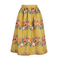ada/floral garland/mustard
