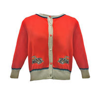classic cardigan/london taxi/red