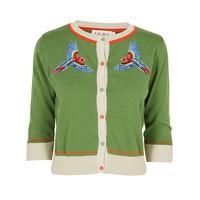 classic cardigan/parrot/green