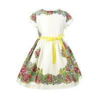 margaret/hungarian flowers/cream/4-7y