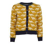 cardigan/mustard fox