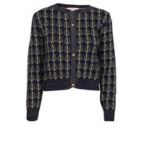 cardigan/navy sparkly feathers