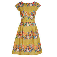beatrice/floral garland/mustard