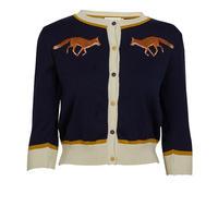 classic cardigan/fox/navy