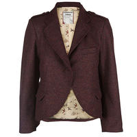 yorkshire tweed jacket/plum