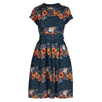 louise/floral garland/navy