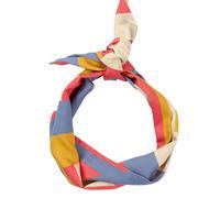 tencel hair tie/axis/coral