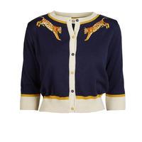 classic cardigan/small tiger/navy