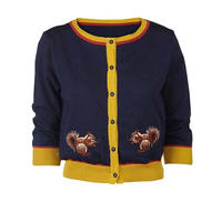classic cardigan/squirrel/navy