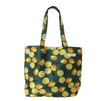 cotton shopper/lemon/blue green