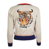 classic cardigan/large tiger/cream