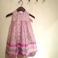 バングラデシュの伝統民族衣装サリーを使ったドレス