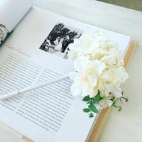 MARBLE & Co. お花のボールペン あじさいとユーカリのブーケ  [white/green]