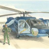 ポストカード UH-60J救難ヘリコプター