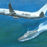 ポストカード 航空機と艦艇