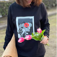 Second edition THREE×KOSUKEKAWAMURA long sleeveT Black