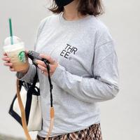 THREE®︎ Logo L/S T-Shirt light gray