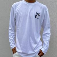 THREE®︎ Logo L/S T-Shirt white
