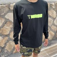 THREE Neon long T-shirt  black