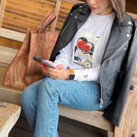 THREE×Kosuke Kawamura collage long sleeve  T-shirt