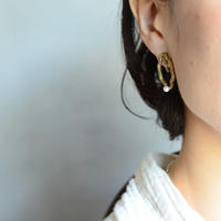 シャンデリアパ―ルイヤリング 真鍮