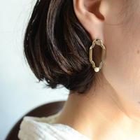 シャンデリアパ―ルピアス 真鍮
