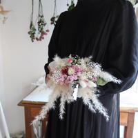 ドライフラワーの花束 「日映り」