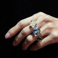 tomodachi ring mixed Blue