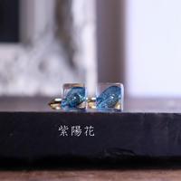 「時」ピアス/イヤリング 紫陽花の花びら