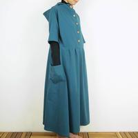 Kimamaフードロングワンピース(木綿 あいねず)【受注生産対応】