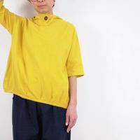 Kimamaフードバルーンシャツ(木綿 山吹)【受注生産対応】