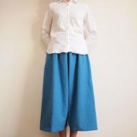 Kimamaキュロット(木綿 薄藍)【受注生産対応】