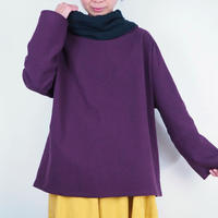 Kimamaキンチャクネックシャツ(木綿 杜若)【受注生産対応】