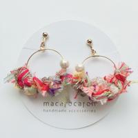 macarocaron #474 / Knit cotton pearl Pink