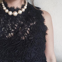 Macboothi cotton pearl necklace