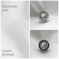 Macboothi petit /1. crystal 2.jet black