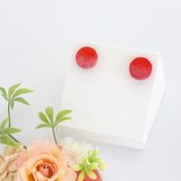 纏-MATOU-*丸(M)*美濃和紙のイヤリング/ピアス*赤