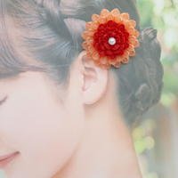 和紙の花のかんざし*1輪/全5色