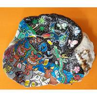 貝殻アート【夜の海】/貝殻絵画
